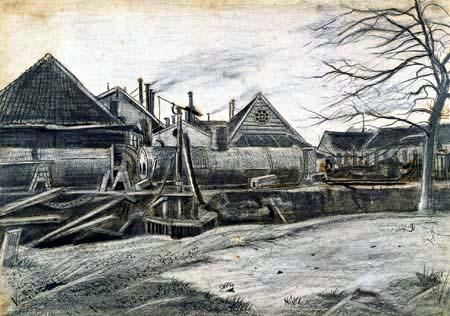 Vincent van Gogh - Fabrik in Den Haag