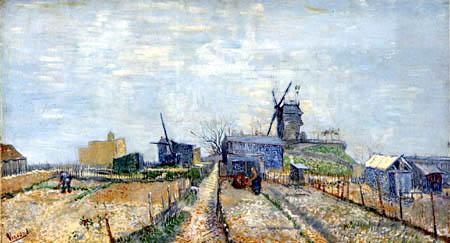 Vincent van Gogh - Die Moulin Blute-Fin auf dem Montmartre