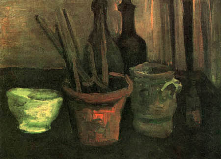 Vincent van Gogh - Still life with brushes in a flower pot