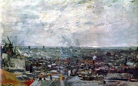 Vincent van Gogh - Blick auf die Dächer von Paris