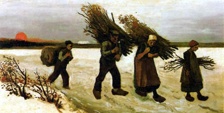 Vincent van Gogh - Wood collectors in the snow