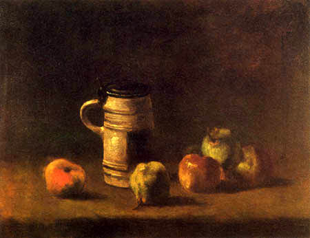 Vincent van Gogh - Still Life with Beer Mug and Fruits