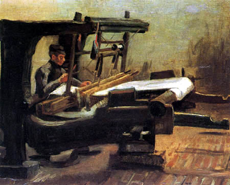 Vincent van Gogh - A weaver at the loom