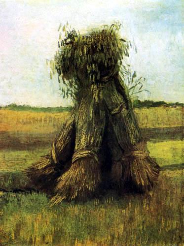 Vincent van Gogh - Weizengarben auf einem Feld
