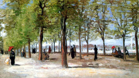 Vincent van Gogh - Avenue in the Jardin du Luxembourg
