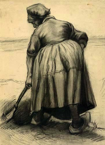 Vincent van Gogh - Bäuerin beim Graben