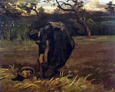 Vincent van Gogh - Farmer in the potato field