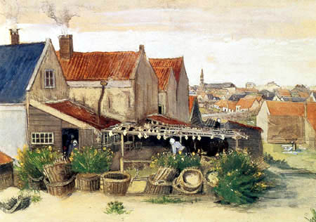 Vincent van Gogh - The pharmacy of Limandes, Scheveningen