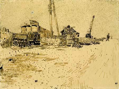 Vincent van Gogh - Bearing area of the railway
