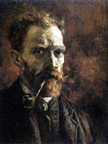 Vincent van Gogh - Selbstbildnis mit Pfeife