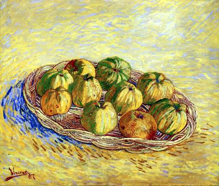 Vincent van Gogh - Naturaleza muerta con cesta de manzanas