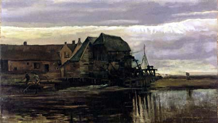 Vincent van Gogh - Water Mill at Gennep