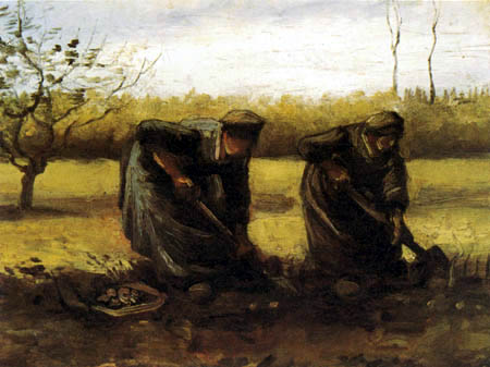 Vincent van Gogh - Zwei Bäuerinnen beim Kartoffelgraben