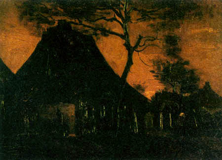 Vincent van Gogh - A Farmhouse with Trees