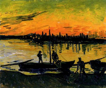 Vincent van Gogh - Kohlenschuten in Arles