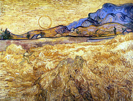 Vincent van Gogh - Wheat Field with Reaper