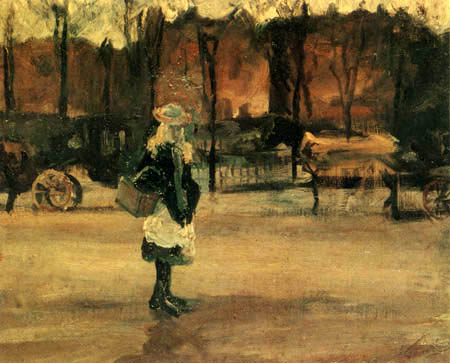 Vincent van Gogh - Mädchen an der Haltestelle