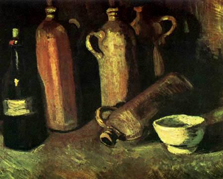 Vincent van Gogh - Stilleben mit vier Krügen