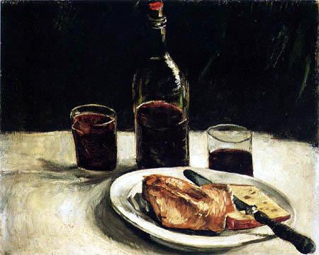 Vincent van Gogh - Stilleben mit Weinflasche und Gläsern