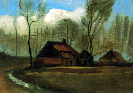 Vincent van Gogh - Farmhouse between trees