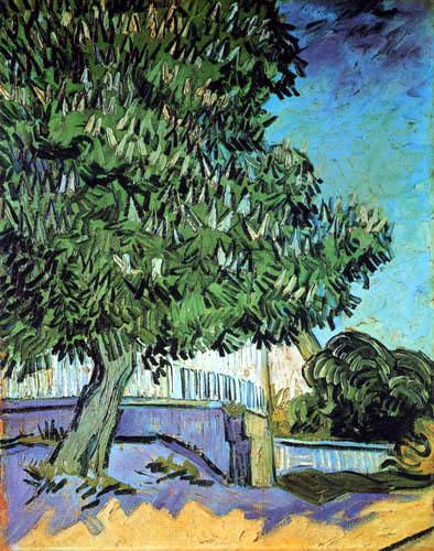 Vincent van Gogh - Blühender Kastanienbaum