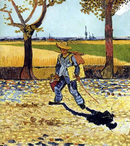 Vincent van Gogh - Der Maler auf dem Weg zur Arbeit
