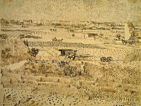 Vincent van Gogh - Harvest in Provence