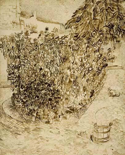 Vincent van Gogh - Garten einer Badeanstalt