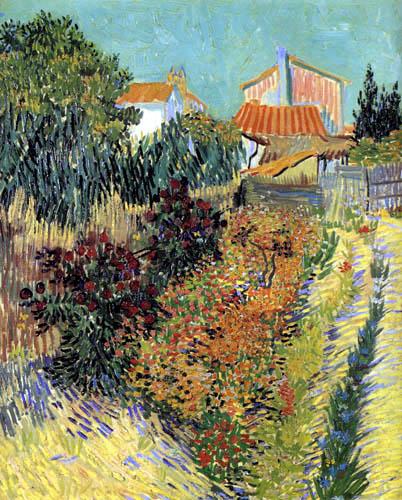 Vincent van Gogh - Garten hinter einem Haus