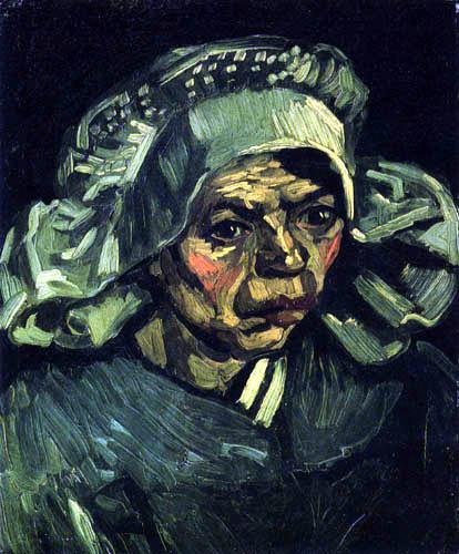 Vincent van Gogh - Kopf einer Bäuerin mit weißer Haube