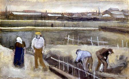 Vincent van Gogh - Wiesen bei Rijswijk