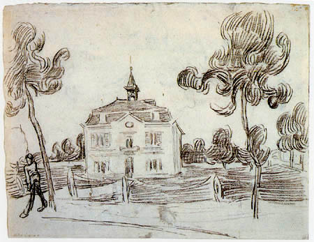 Vincent van Gogh - The Town Hall of Auvers