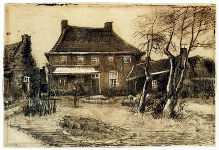 Vincent van Gogh - The back of the parsonage in Nuenen