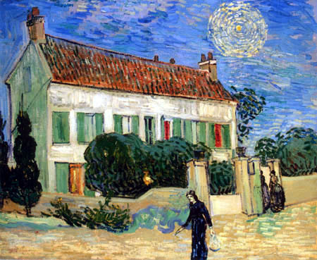 Vincent van Gogh - A white house at night