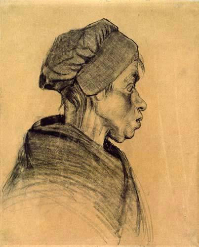 Vincent van Gogh - Cabeza de una mujer