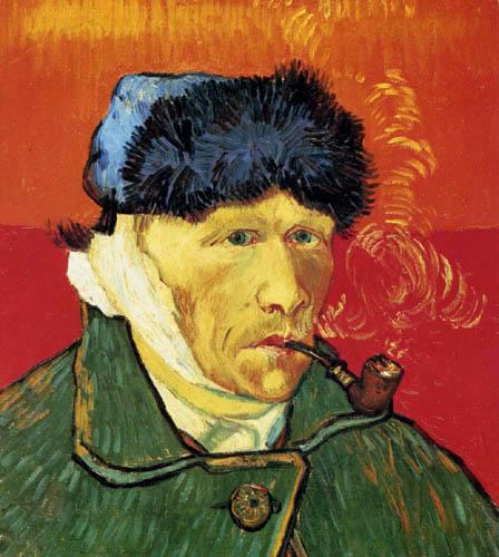 Vincent van Gogh - Selbstbildnis mit bandagiertem Ohr und Pfeife