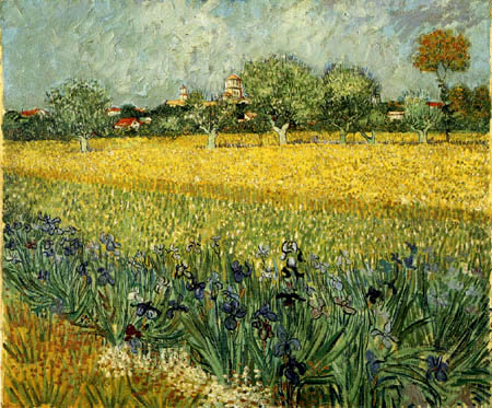 Vincent van Gogh - Campo con las flores