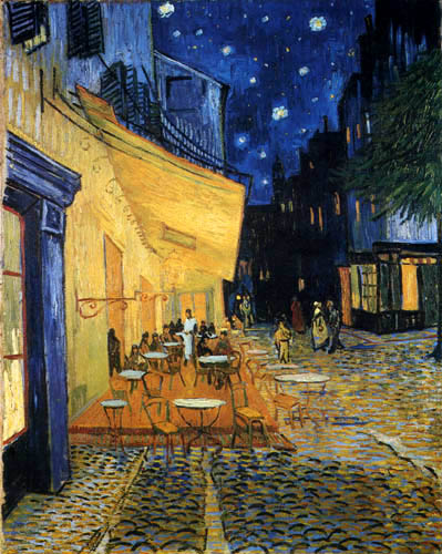 Vincent van Gogh - Cafe terrace in the night