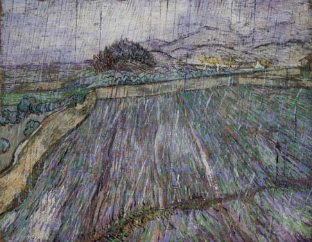 Vincent van Gogh - Weizenfeld im Regen