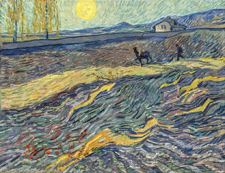 Vincent van Gogh - Farmer in a field