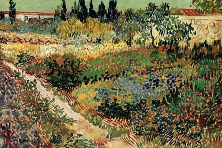 Vincent van Gogh - Blumengarten, Detail