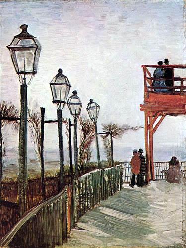 Vincent van Gogh - Montmartre bei der oberen Mühle