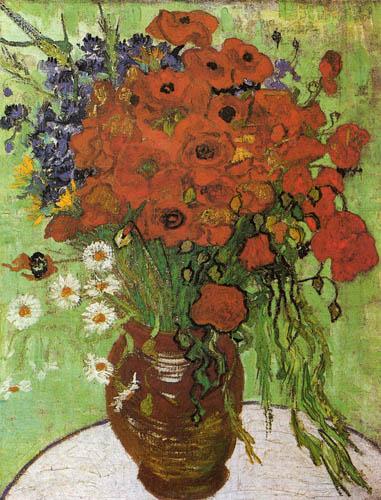 Vincent van Gogh - Vase mit Kornblumen und Klatschmohn
