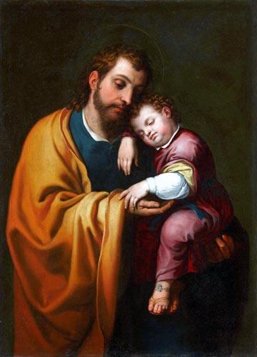 Bartolomé González y Serrano - Saint Joseph with the Jesus Child