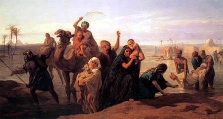 Frederik Goodall - Flood on the Nile