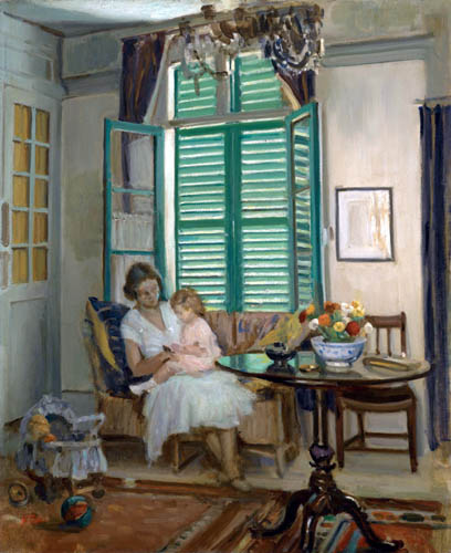 William Crampton Gore - The artist's wife and daughter Elisabeth