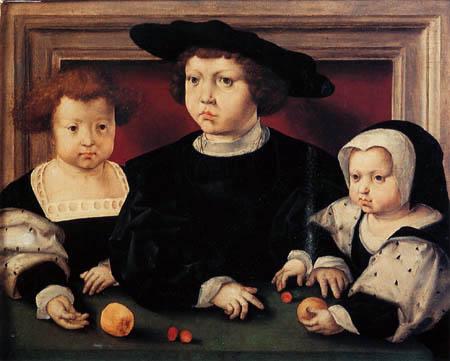 Jan Gossaert - The children John, Dorothea and Christina