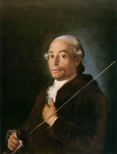 Francisco J. Goya y Lucientes - Mann mit einem Degen