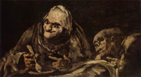 Francisco J. Goya y Lucientes - Dos viejos comiendo