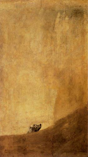 Francisco J. Goya y Lucientes - Perro semihundido